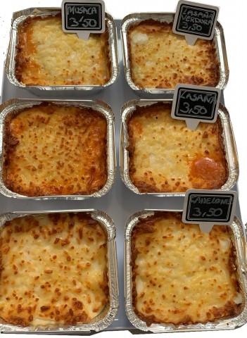 Lasaña de Verduras con queso Emmental